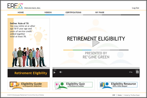 ERFtv Portal for the City of Dallas' Retired Employees